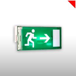Les éclairages de scours, BAES, sont autonomes en cas de coupure d'électricité et permettent d'indiquer les issues de secours les plus proches.