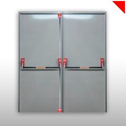 Les portes coupe-feu se ferment automatiquement lorsqu'un départ de feu est détecté et si un système d'alarme incendie est installé.